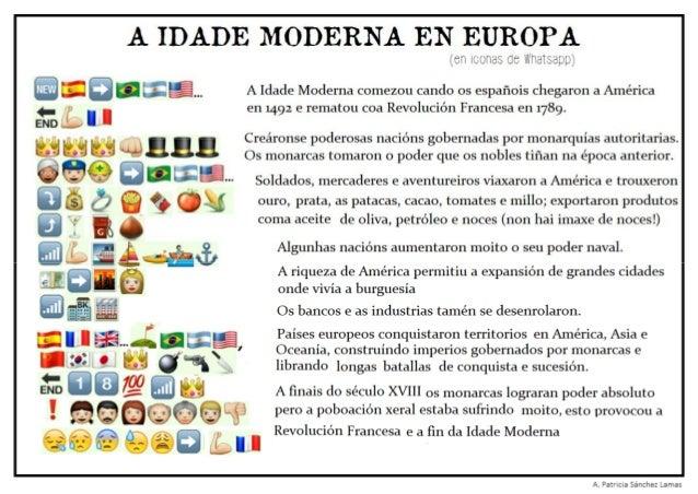 Idade Moderna en Europa (En iconas de Whatsapp)
