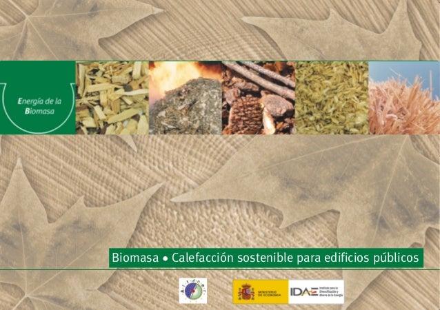 Biomasa • Calefacción sostenible para edificios públicos IDAE-BIOMASA 3/12/02 09:57 Página 1