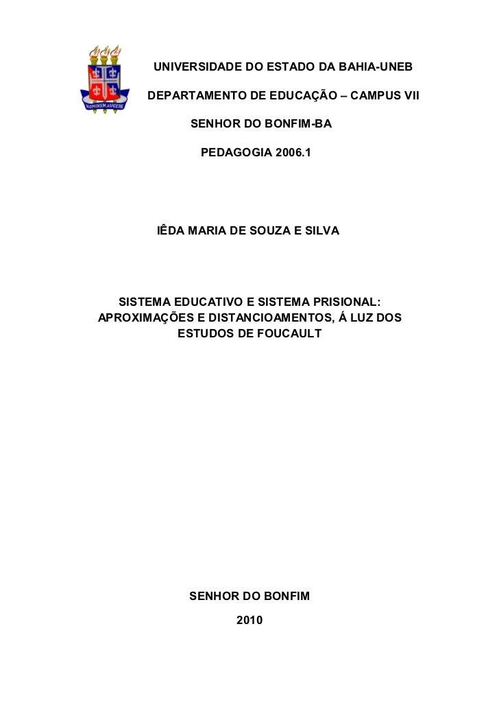 1       UNIVERSIDADE DO ESTADO DA BAHIA-UNEB      DEPARTAMENTO DE EDUCAÇÃO – CAMPUS VII            SENHOR DO BONFIM-BA    ...