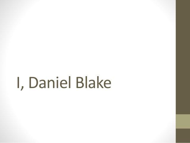 I Daniel Blake Film Case Study