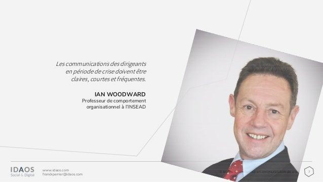 76 leçons de leadership en communication de crise www.idaos.com franckperrier@idaos.com IAN WOODWARD Professeur de comport...