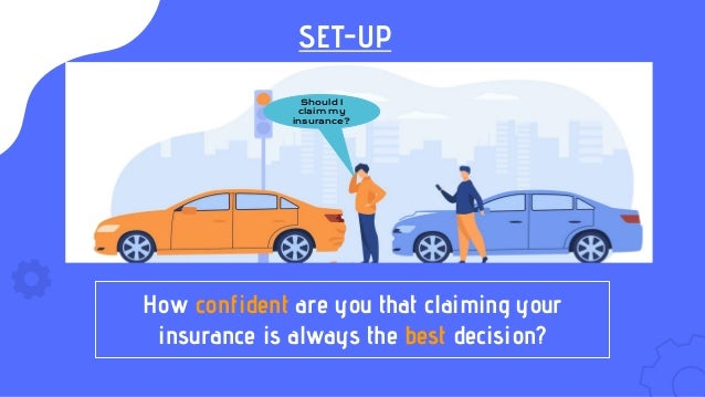 SET-UP Should I claim my insurance? How confident are you that claiming your insurance is always the best decision?