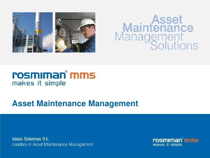 AssetMaintenance Management<br />