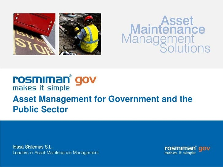 Asset Management for Government and the Public Sector<br />