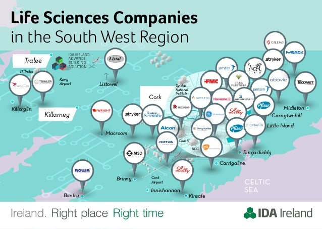 Life Sciences Companies In The South West Region Ireland Map