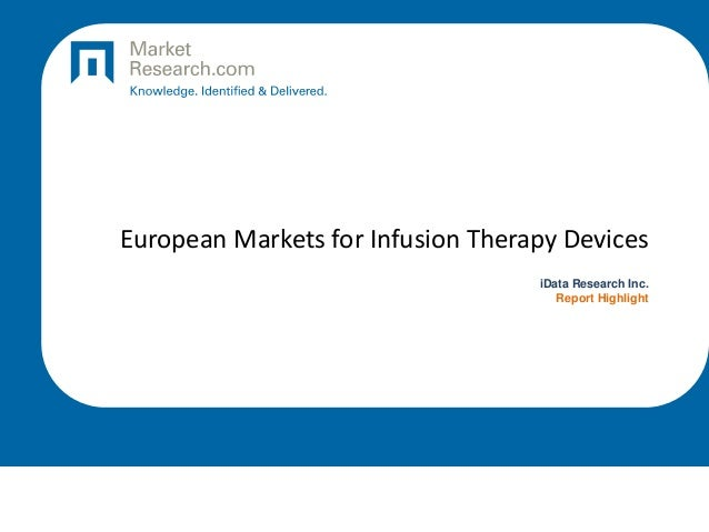 European Markets for Infusion Therapy Devices iData Research Inc. Report Highlight