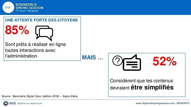 DWSPR19 18042019 Philippe BAUDOUIN et Anne CAUSSE - Cohésion territoriale et digital - IDATE DigiWorld Slide 3