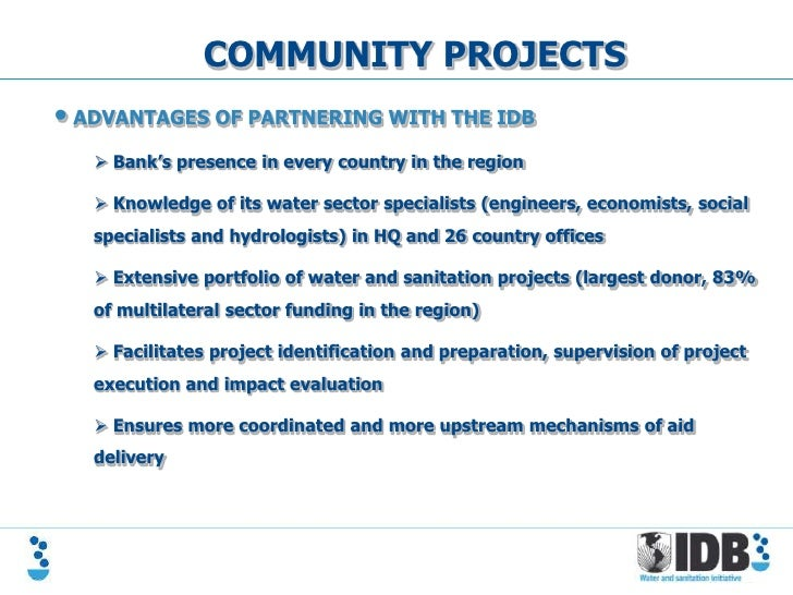 IDB - Financing Opportunities for Water and Sanitation in