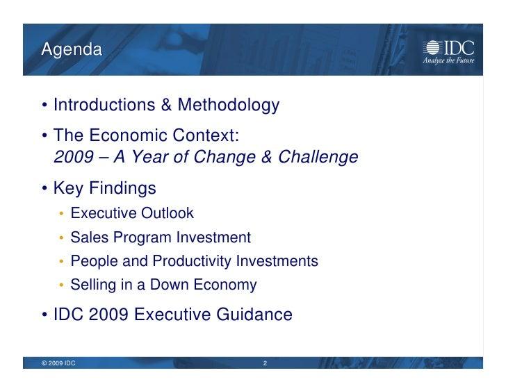 IDC 2009 Sales Barometer & Top Ten Predictions Slide 2