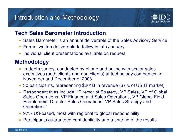 IDC 2009 Sales Barometer & Top Ten Predictions Slide 3