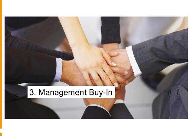 3° - L'acquisizione di consenso interno limitato Verbale, senza allocazione di risorse Sponsorship, investimenti crescenti...