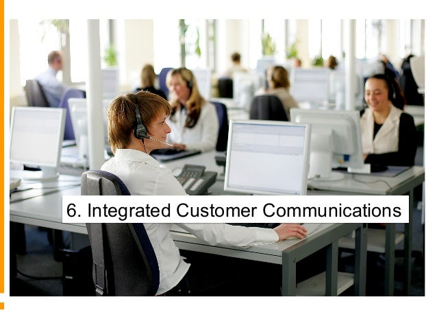 6° - Integrazione dei canali di comunicazione Non integrato Comunicazioni di base Push sincronizzate Approccio inbound int...