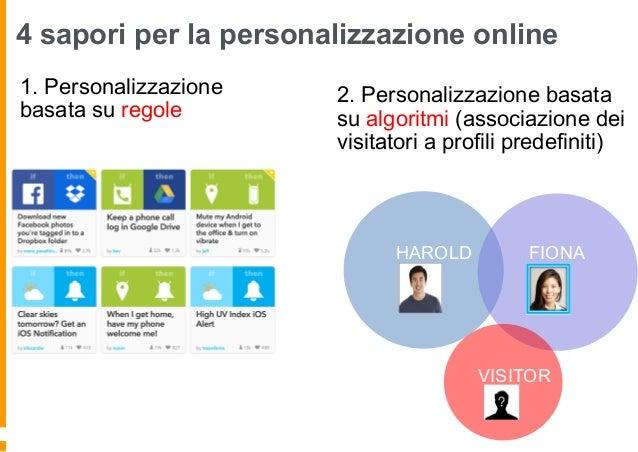 4 sapori per la personalizzazione online 3. Personalizzazione basata su sincronizzazione omni- canale 4. Personalizzazione...