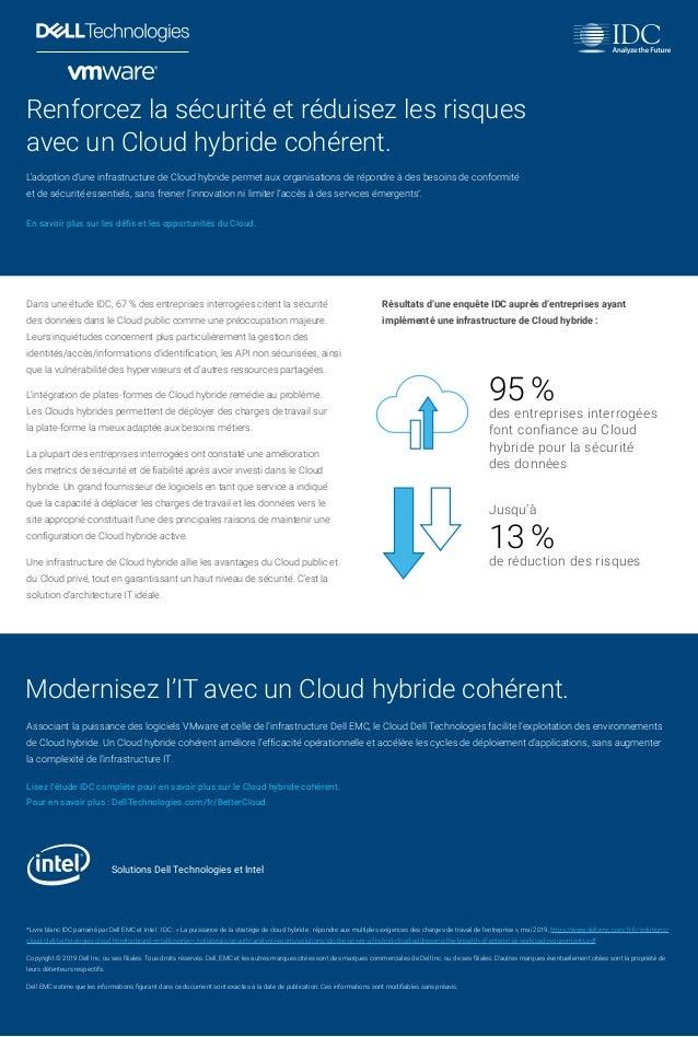 95% des entreprises interrogées font confiance au Cloud hybride pour la sécurité des données Renforcez la sécurité et réd...