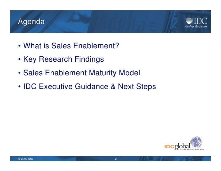 IDC Sales Enablement Jan 2009 Slide 2