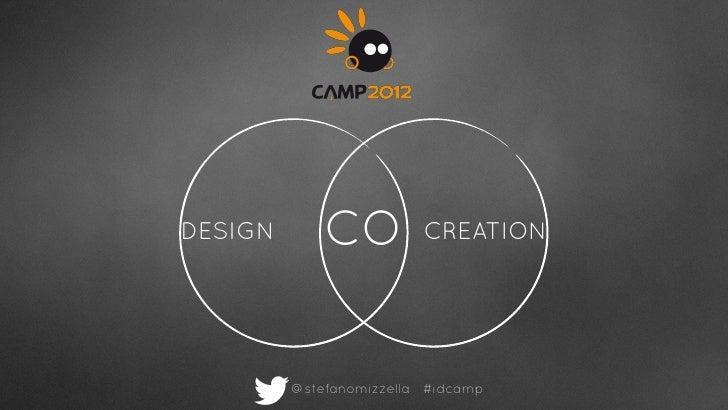 DESIGN       CO          CREATION         @stefanomizzella #idcamp