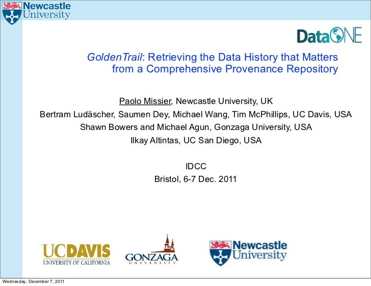 GoldenTrail: Retrieving the Data History that Matters                                  from a Comprehensive Provenance Rep...
