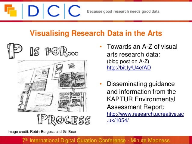 Because good research needs good data            Visualising Research Data in the Arts                                    ...