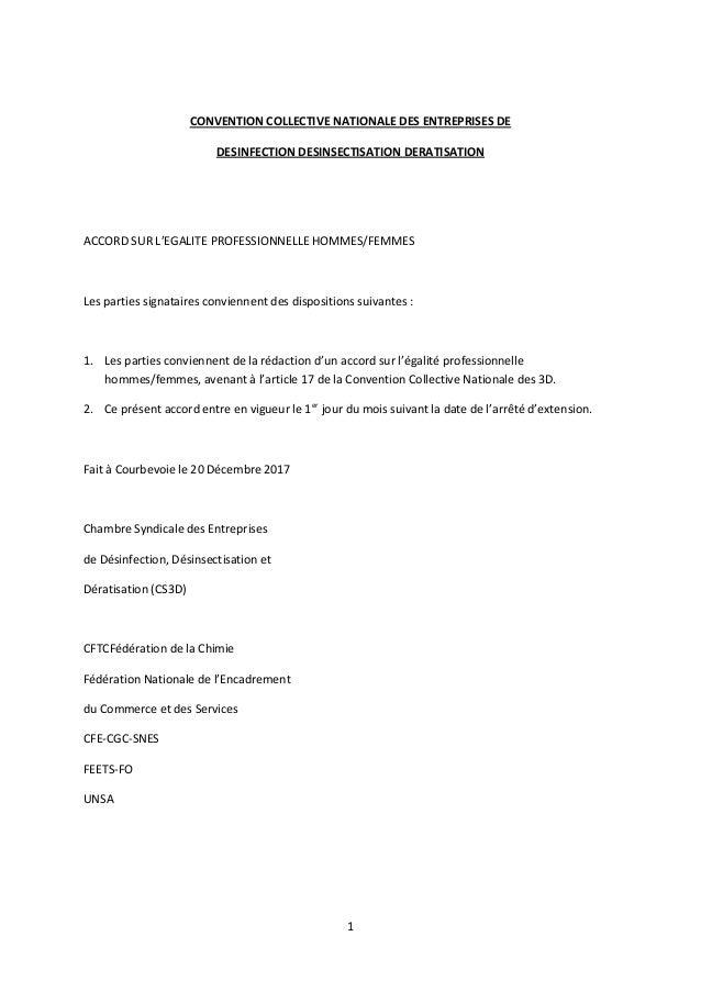 Idcc 1605 Accord Egalite Professionnelle