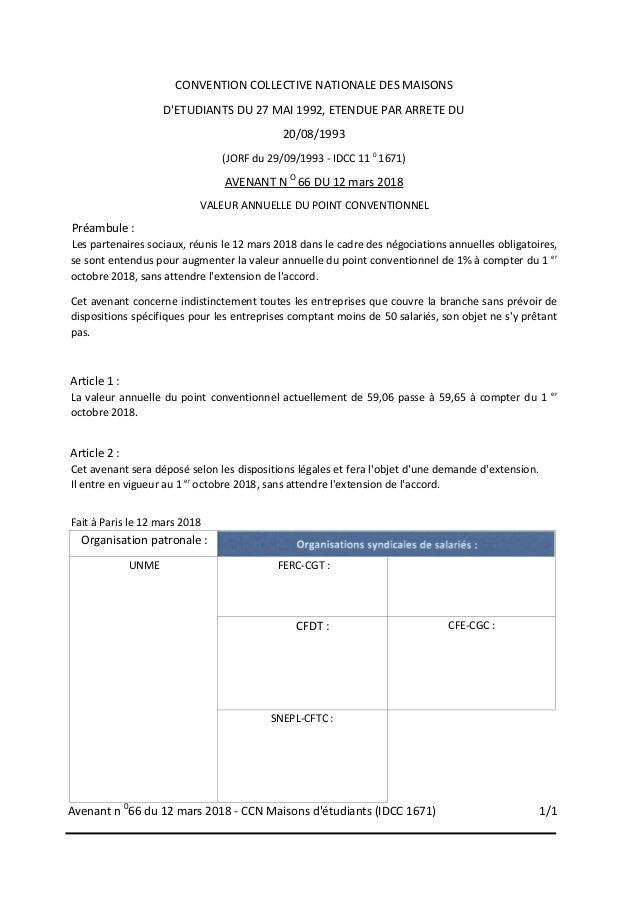 Idcc 1671 Avenant Salaires
