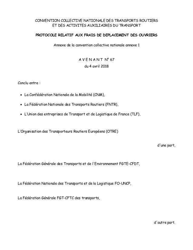 Idcc 16 Avenant Frais Deplacement Ouvriers