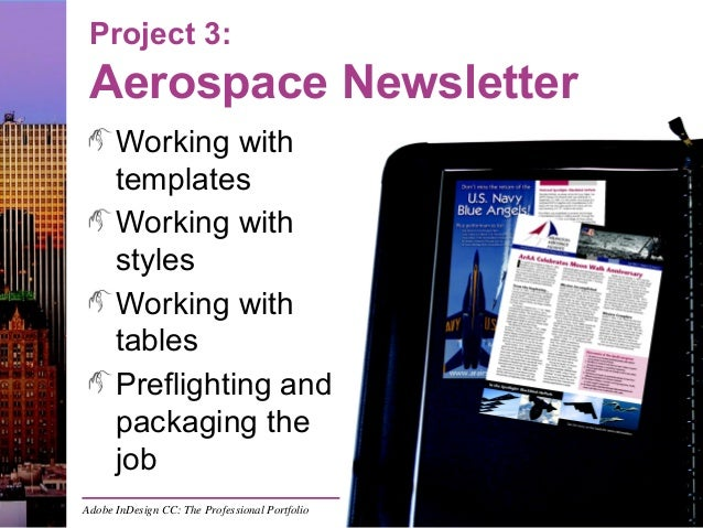 Indesign Project  Aerospace Newsletter