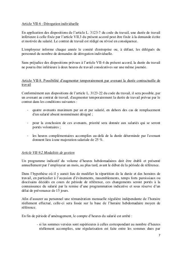 Idcc 1818 Avenant Temps De Travail 2018