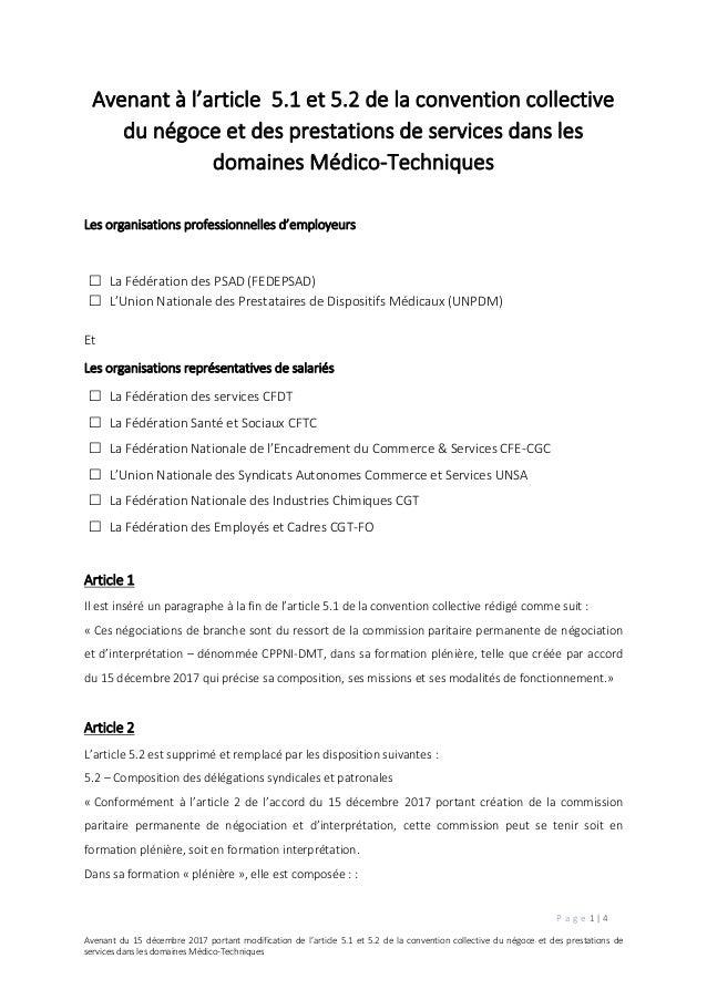 Idcc 1982 Avenant Modification Article 5 1 Et 5 2 Vd
