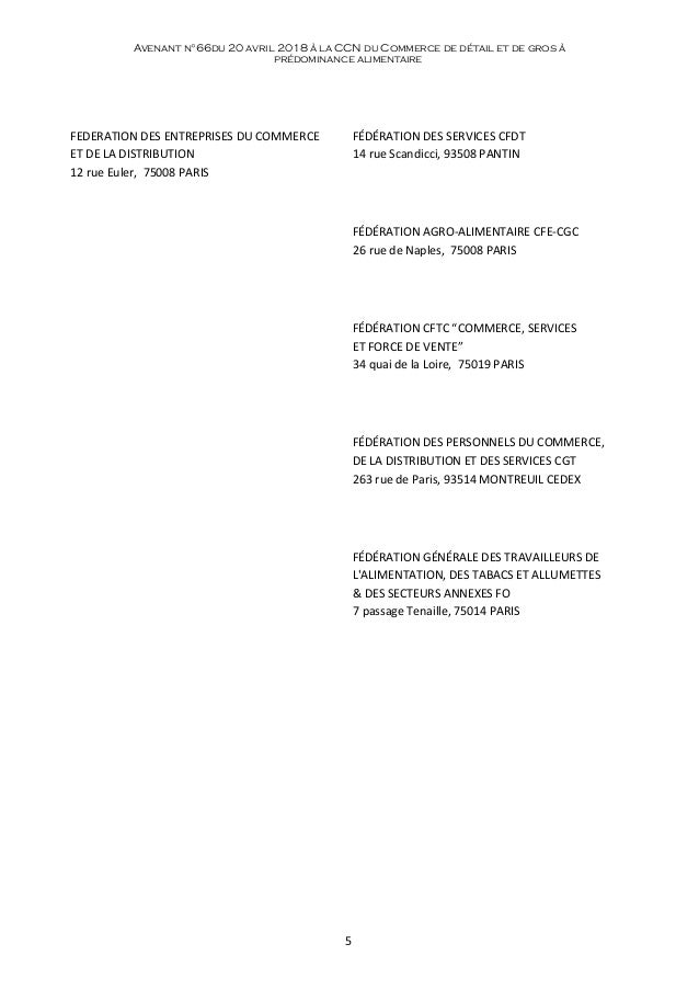 Idcc 2216 Avenant Partenariat Cfa