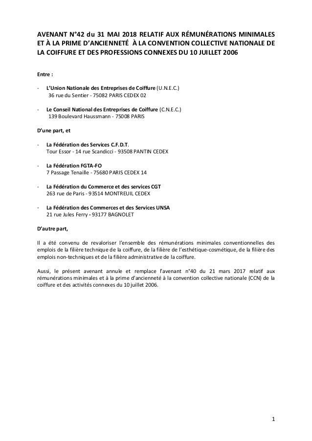 Idcc 2596 Avenant Salaires
