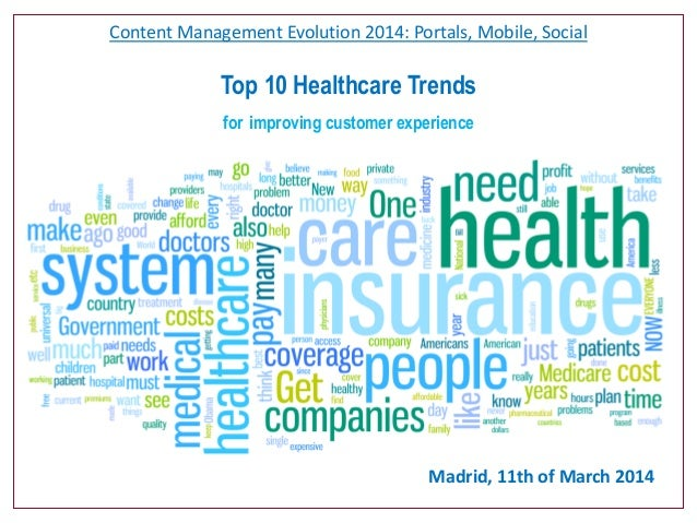 Content Management Evolution 2014: Portals, Mobile, Social Top 10 Healthcare Trends for improving customer experience Madr...