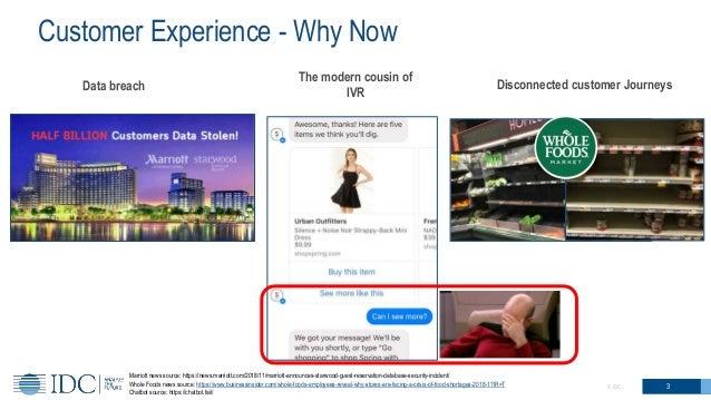 Customer Experience - Why Now 3© IDC Marriott news source: https://news.marriott.com/2018/11/marriott-announces-starwood-g...