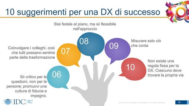 © IDC Visit us at IDCitalia.com and follow us on Twitter: @IDCItaly 10 suggerimenti per una DX di successo 20 07 06 08 09 ...