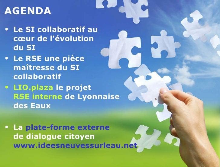Conférence Idc entreprise 2.0   DSI lyonnaise des eaux Slide 3