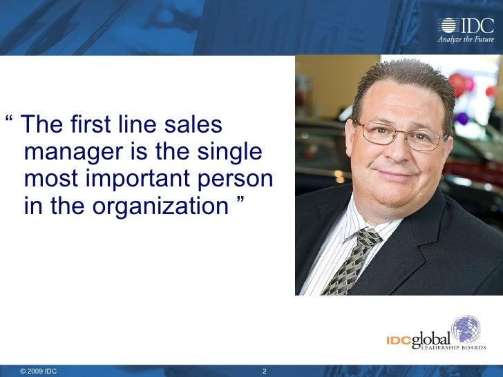 IDC First Line Sales Manager Best Practices Slide 2