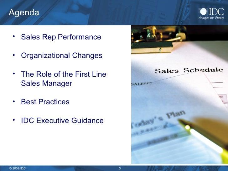 IDC First Line Sales Manager Best Practices Slide 3