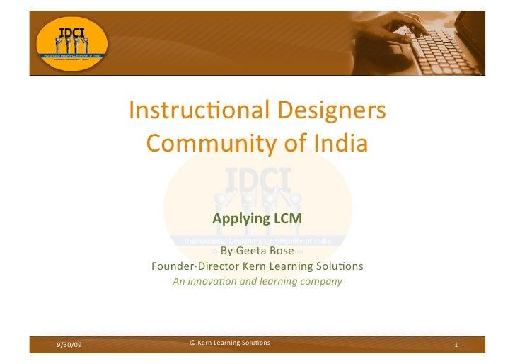 Instruc(onalDesigners              CommunityofIndia                            ApplyingLCM                        ...