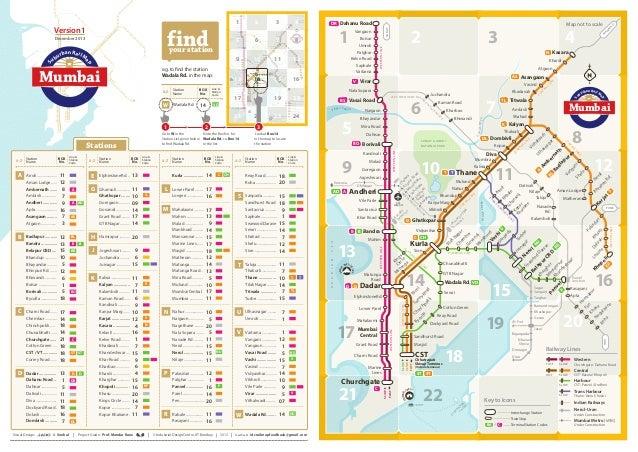 IDC Mumbai Suburban Rail Network Map