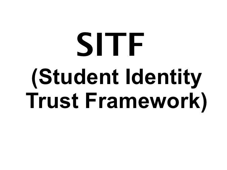 SITF(Student IdentityTrust Framework)