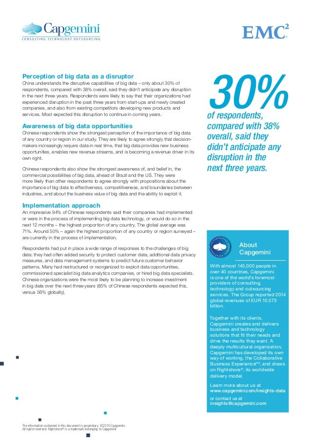 About Capgemini With almost 145,000 people in over 40 countries, Capgemini is one of the world's foremost providers of con...