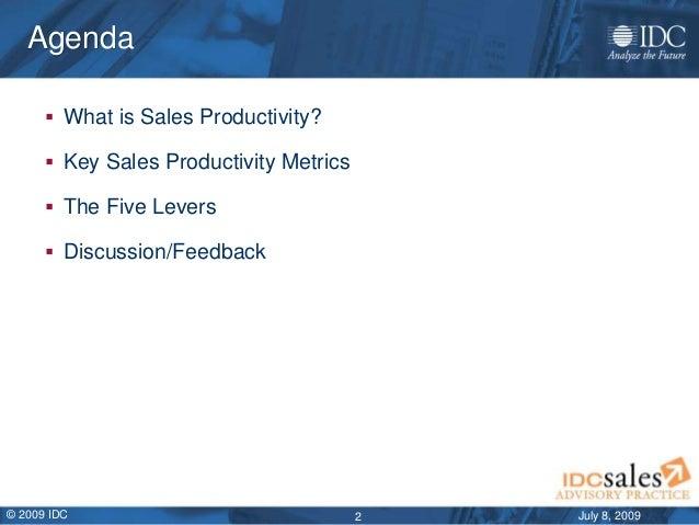 IDC sales productivity framework overview july 2009 Slide 2