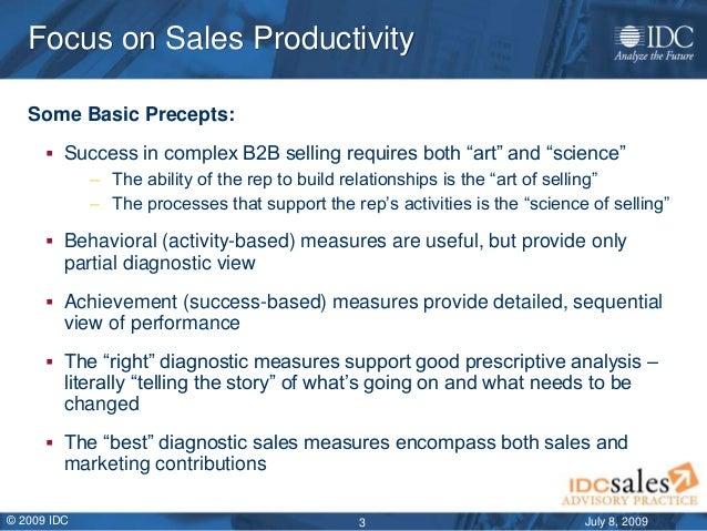 IDC sales productivity framework overview july 2009 Slide 3