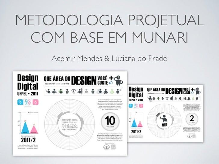 METODOLOGIA PROJETUAL COM BASE EM MUNARI    Acemir Mendes & Luciana do Prado