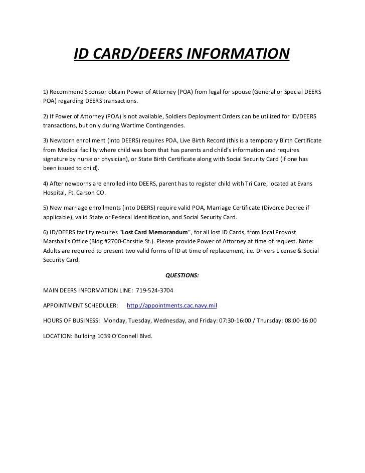 Id deers info sheet
