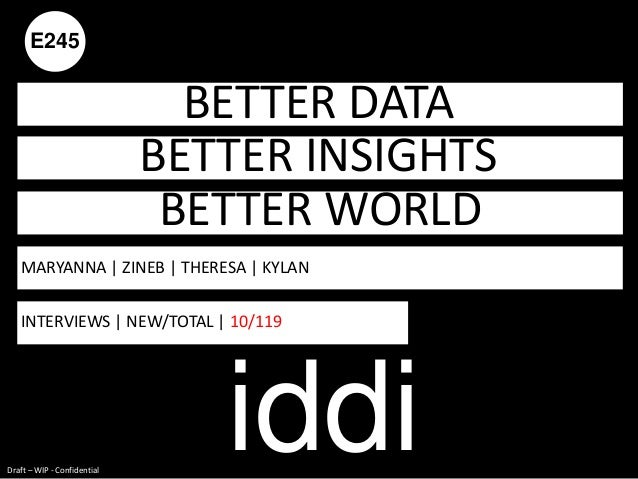 E245                               BETTER DATA                             BETTER INSIGHTS                                ...