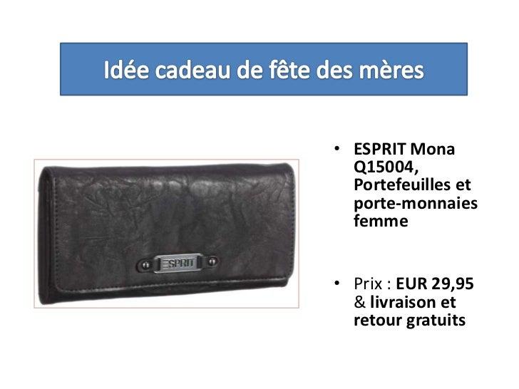 Idée cadeau de fête des mères<br />ESPRIT Mona Q15004, Portefeuilles et porte-monnaies femme <br />Prix : EUR 29,95 & livr...