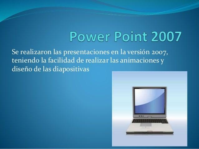La utilidad y facilidad de trabajar en Power Point para realizar presentaciones es de mucho beneficio para evitar trabajar...