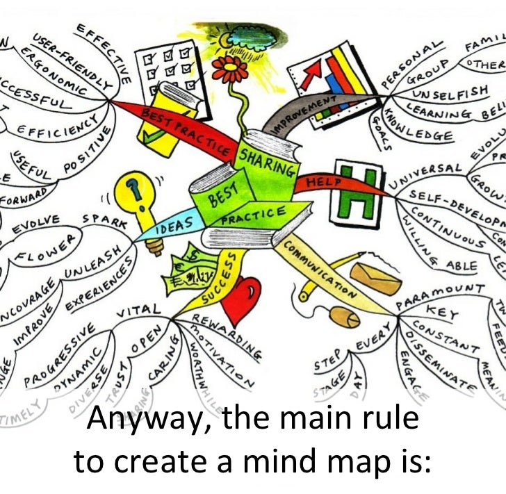 Anyway, the main rule to create a mind map is: