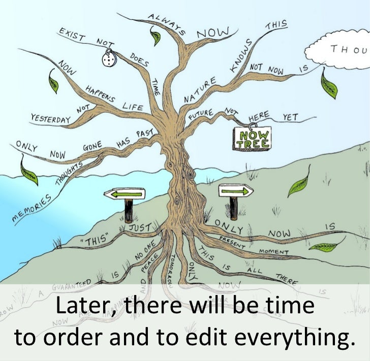 Later, there will be time to order and to edit everything.