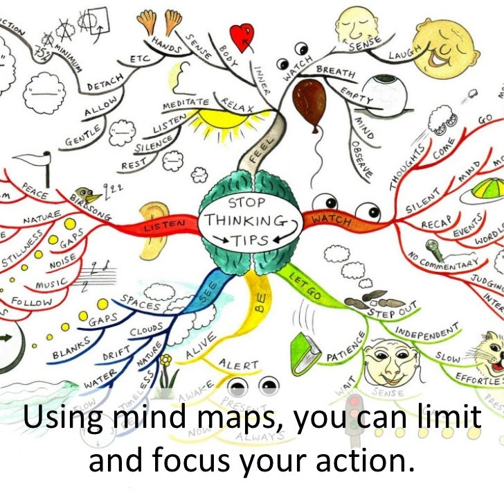 Using mind maps, you can limit     and focus your action.